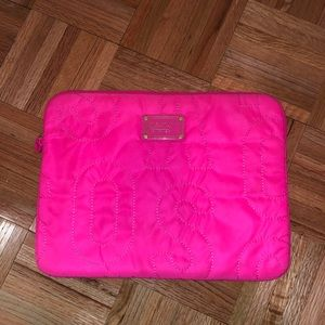 Marc By Marc Jacobs hot pink nylon laptop case